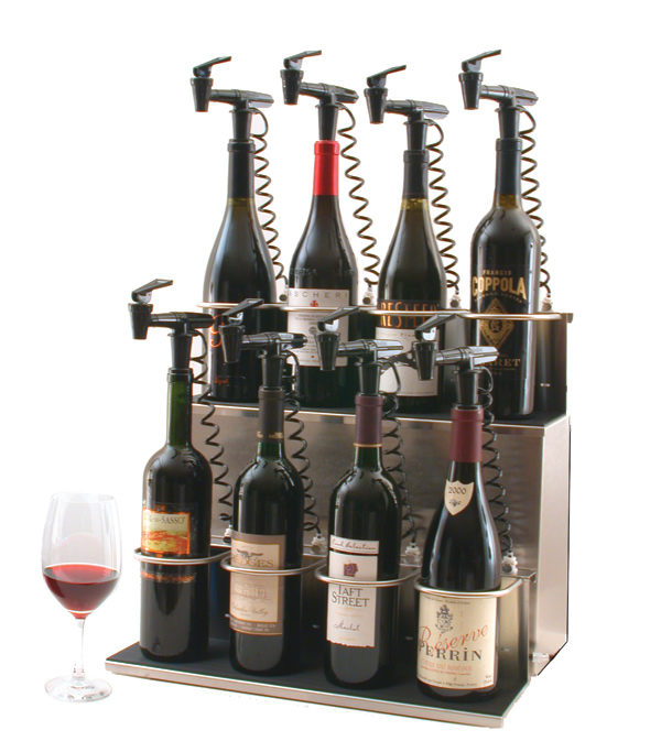 8 bottle Tiered red wine Z base
